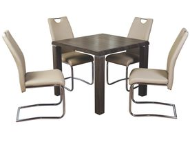 Encore Charcoal Dining set with Khaki Chairs