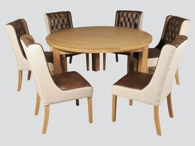 Treviso 150cm Round Dining Set (With Olivia chairs)